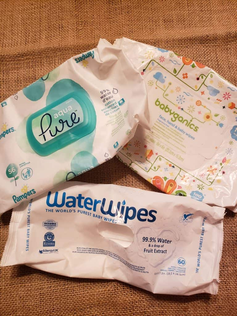 Common chemicals in baby wipes