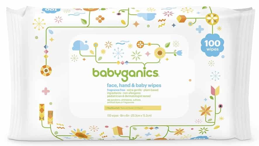 Babyganics hand and face wipes review